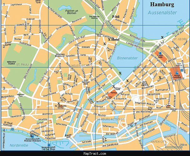 Hamburg Map Tourist Attractions httptravelto8comhamburgmap