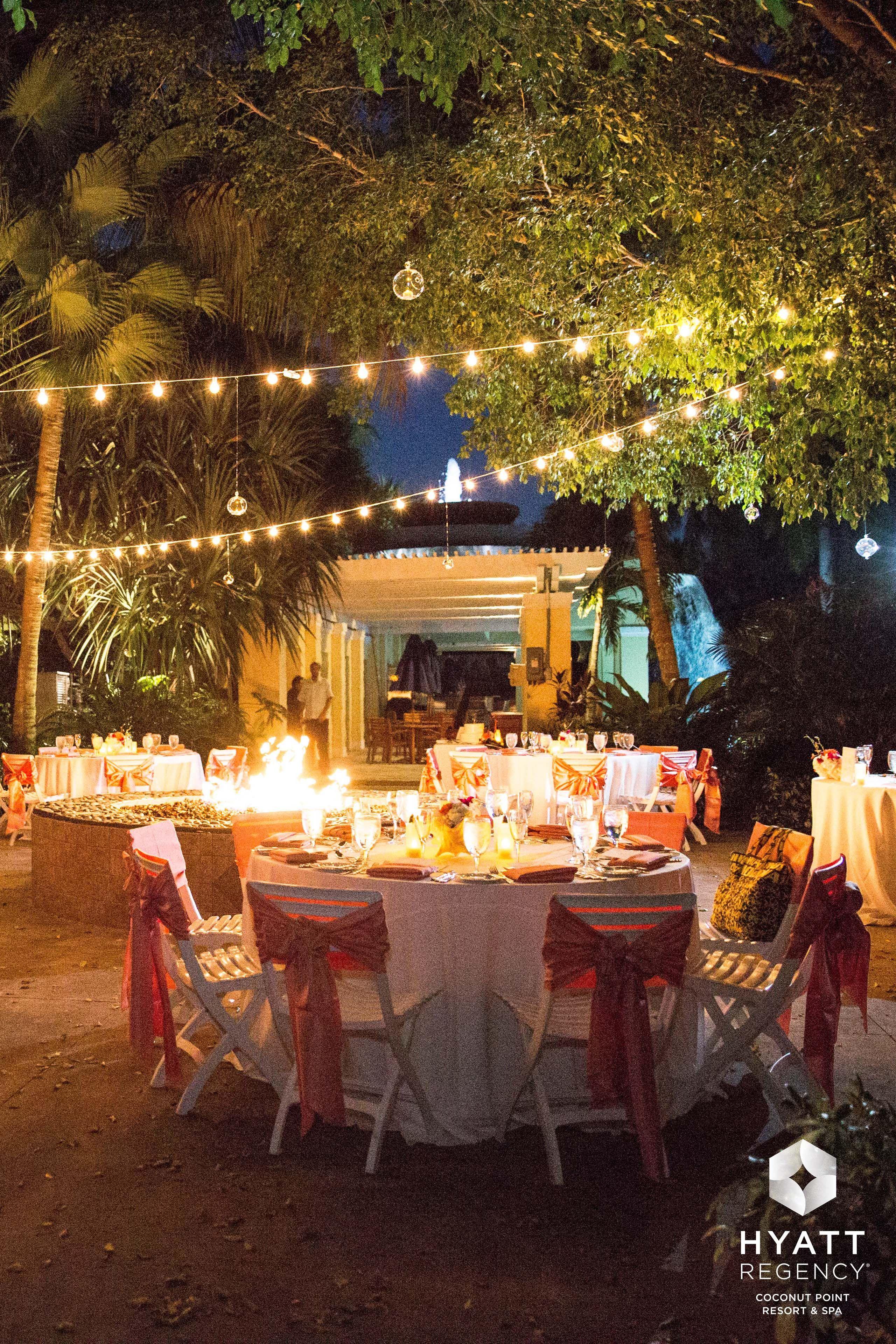 Fireside Reception At Hyatt Regency Coconut Point Resort