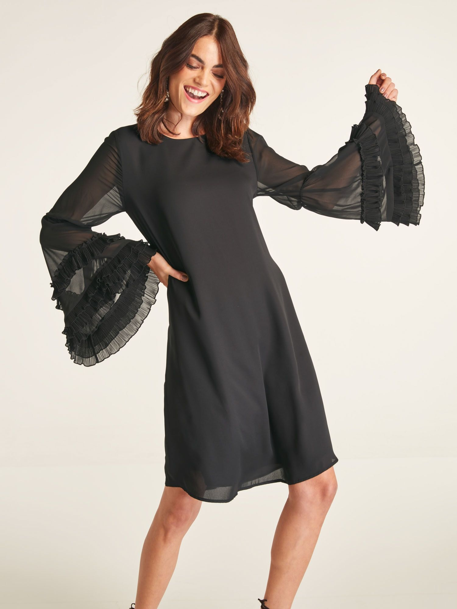 Heine Kleid Damen, Schwarz, Größe 20  Kleider, Damen und Schwarz