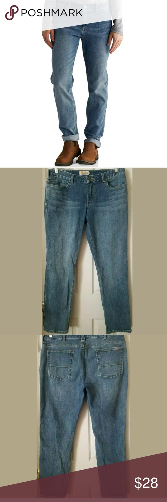 7e631b8f36d Carhartt Denim Jeans Benson Women's Size 14R Carhartt Denim Jeans Benson  Women's Size: 14R Tomboy