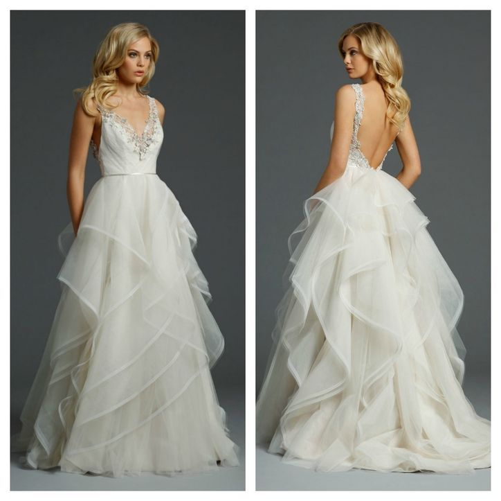 Pictures of ruffled wedding dresses