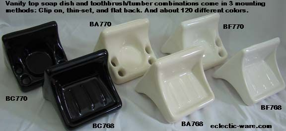 Vanity Soap Dish And Toothbrush Holders For Ceramic Tile Walls