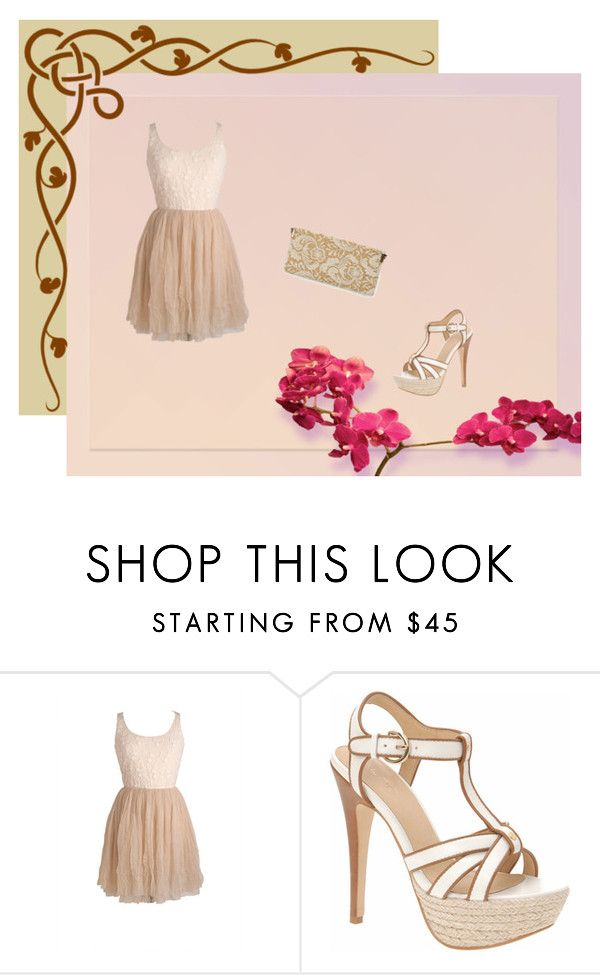 """Cream and Brown"" by morgan-mcnorrill ❤ liked on Polyvore featuring ALDO"