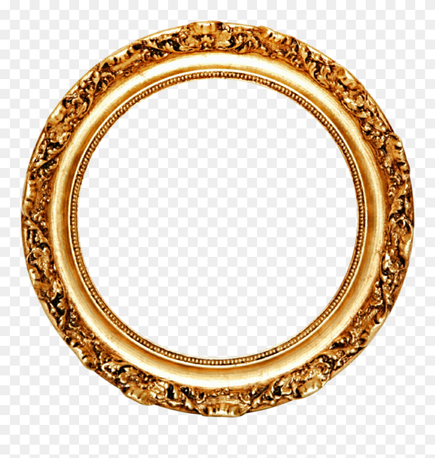 Download Hd Picture Frame Mirror Circle Gold Leaf Round Gold Frame Png Clipart And Use The Free Clipart In 2021 Gold Picture Frames Gold Circle Frames Circle Frames