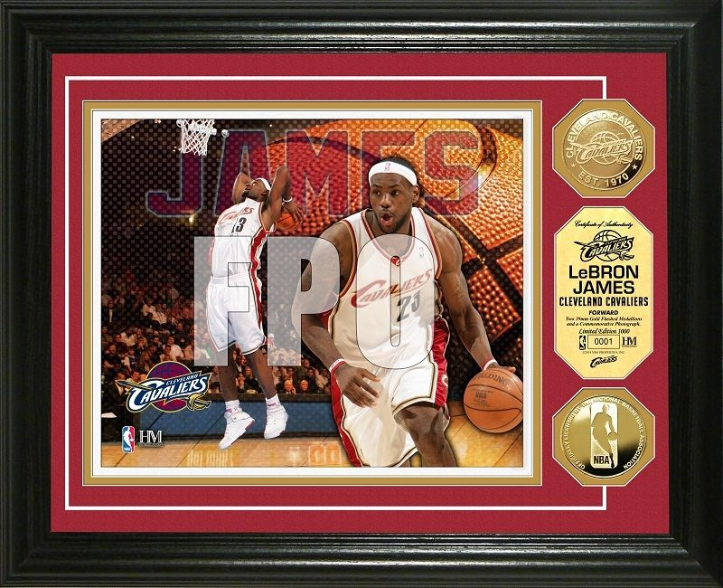 AAA Sports Memorabilia LLC - LeBron James Gold Coin Photo Mint - Cleveland Cavaliers, $99.99 (http://www.aaasportsmemorabilia.com/nba/lebron-james-gold-coin-photo-mint-cleveland-cavaliers/)