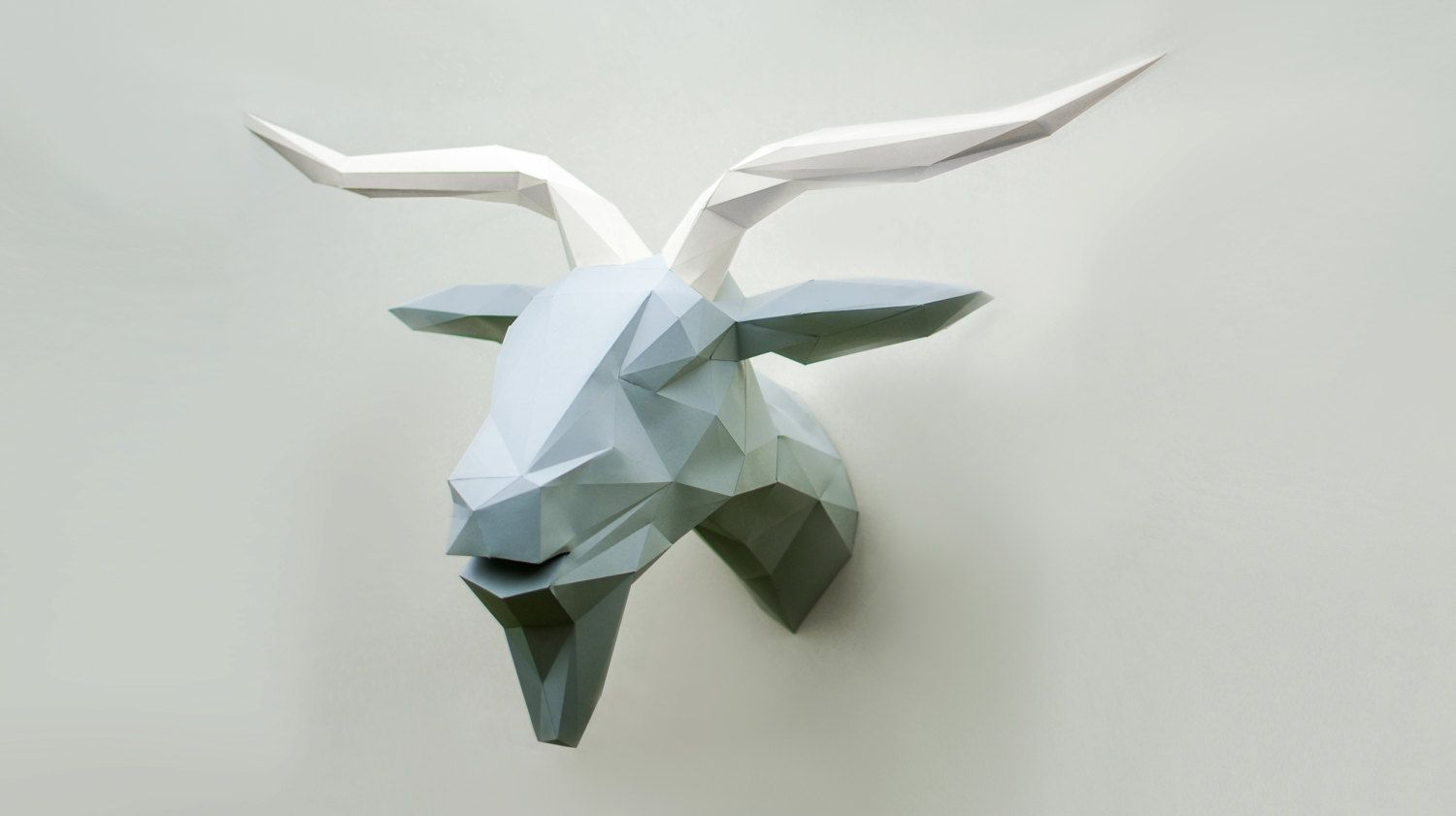 paper goat polygon goat cardboard template diy goat lowpoly goat