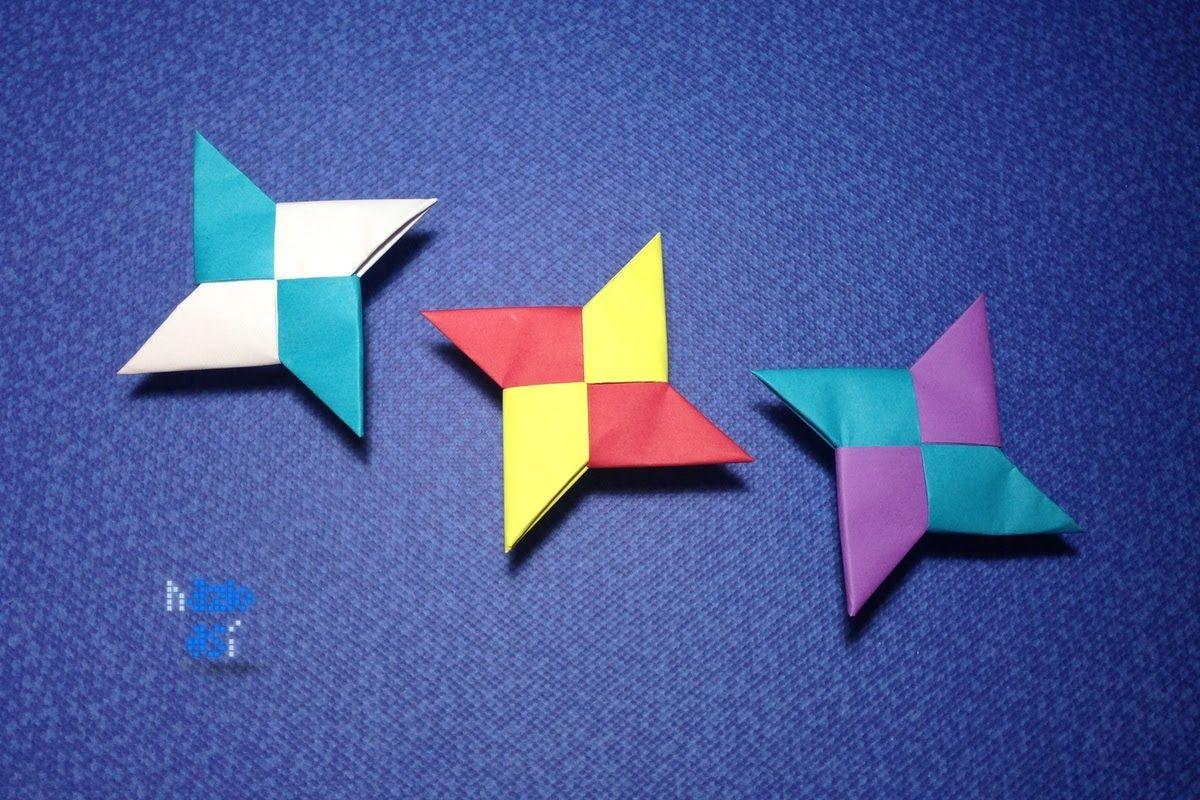 Como Hacer Una Estrella De Papel Shuriken De Papel Estrella Ninja De Papel Origami Origami Shuriken Diy