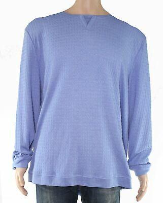 Tasso Elba Mens Tee Shirt Solid Blue Size 2XL Long Sleeve Split Neck $55 #035 #fashion #clothing #shoes #accessories #men #mensclothing (ebay link)