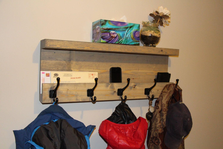 entryway storage coat rack mail storage coat hooks key hooks shelf with hooks