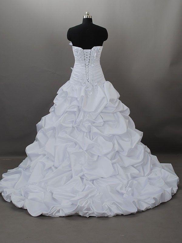 non puffy wedding dresses   Wedding Dress Silk Strapless ...