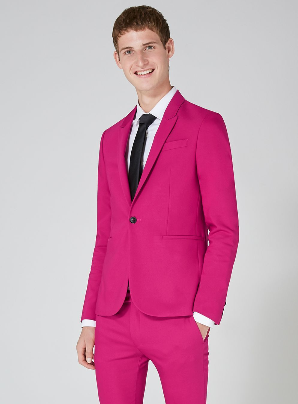 Bright Pink Spray On Suit Jacket | Suit jackets and Bright pink