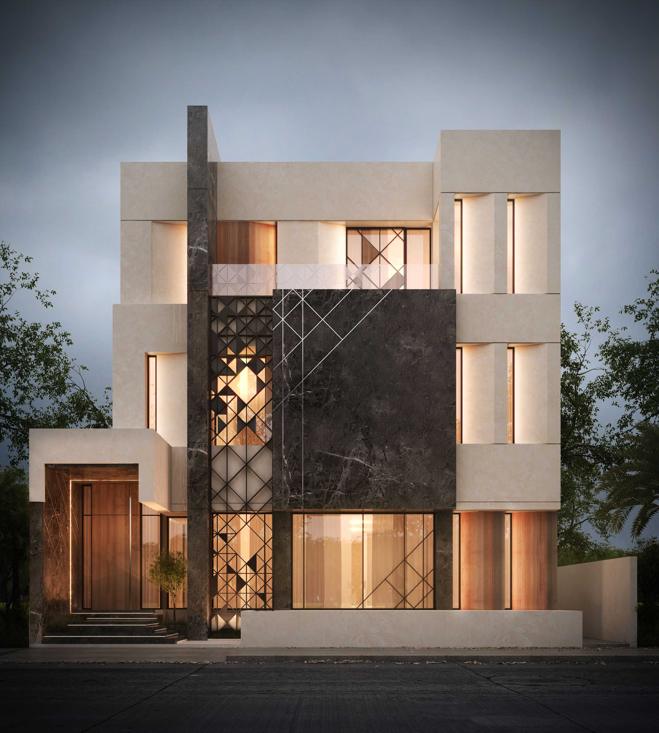 500 m private villa kuwait sarah sadeq architects for Architecture villa design