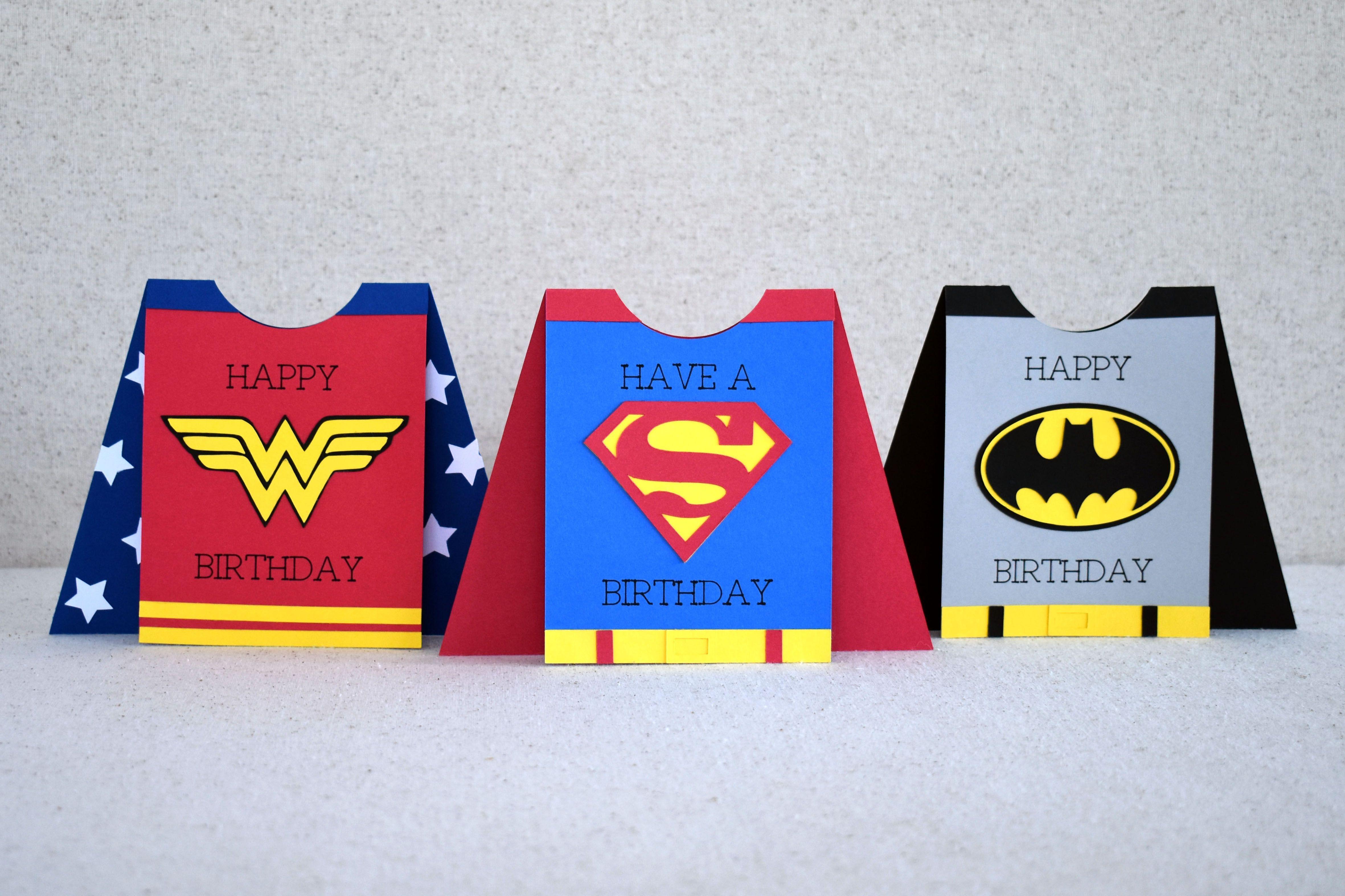 Superhero Card with Cricut Husband birthday card, Cards