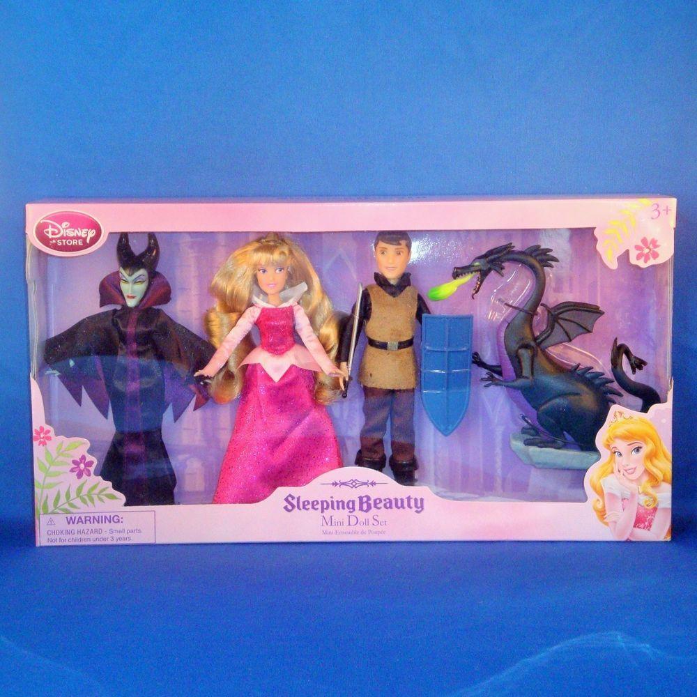 Disney Store Sleeping Beauty Mini Doll Set New