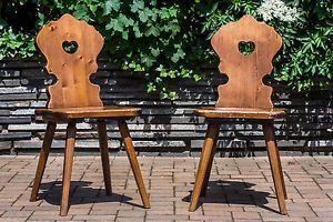 Voglauer Anno 1600 Stuhl Holz Massiv Herz Rustikal Bauernstu