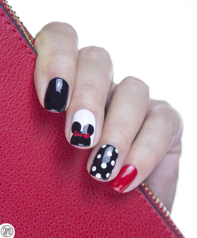I\'m Minnie Mouse! | {Nails} | Pinterest