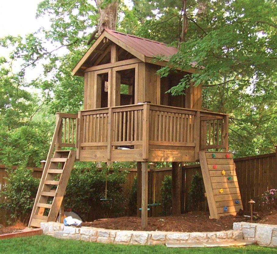 Top 32 Diy Fun Landscaping Ideas For Your Dream Backyard: Backyard Treehouse For Kids : Garden Landscaping Fabulous