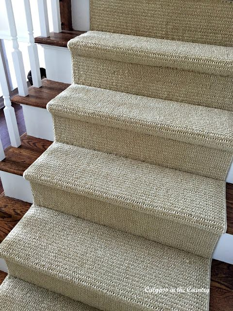 Sisal Look Runner On Stairs   Softer On The Feet Than Sisal Or Seagrass