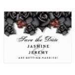 Black White Red Roses Halloween Wedding Save Date Postcard  Black White Red Roses Halloween Wedding Save Date Postcard  $1.05  by juliea2010   More Designs http://bit.ly/2g4mwV2 #zazzle