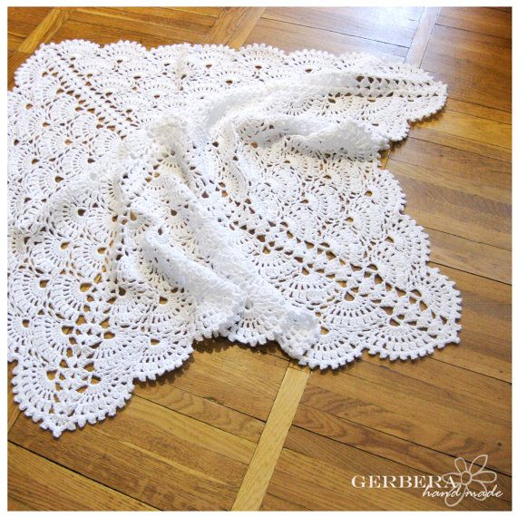 Crochet baby blanket Baby Girl Blanket and Baby por GerberaHandmade ...