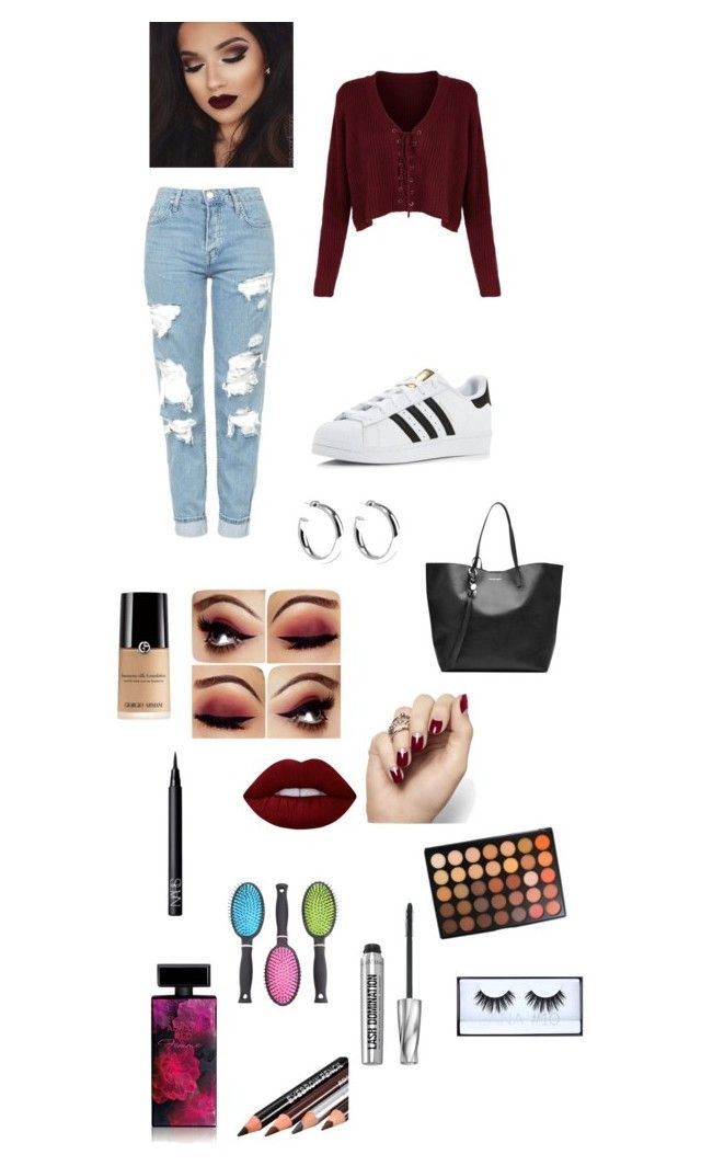 """""""#5"""" by b3ttyw3ldon on Polyvore featuring Topshop, adidas, Alexander McQueen, Sophie Buhai, Lime Crime, NARS Cosmetics, Morphe, Bare Escentuals, Elizabeth Arden and Huda Beauty"""
