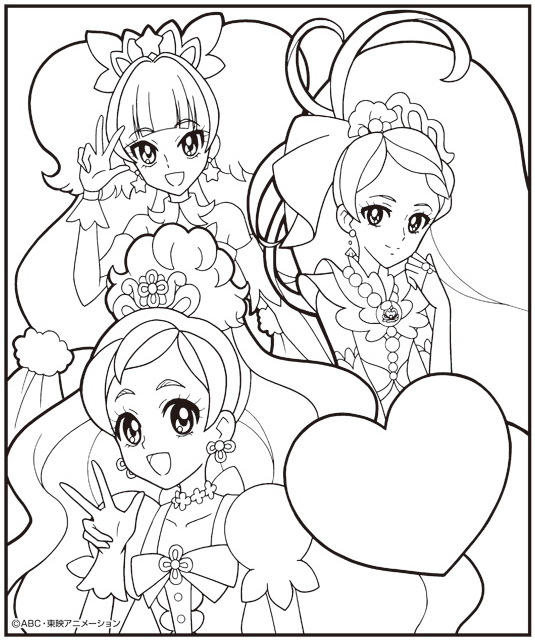 Goプリンセルプリキュアの塗り絵 Icingcookies Sketches と Color