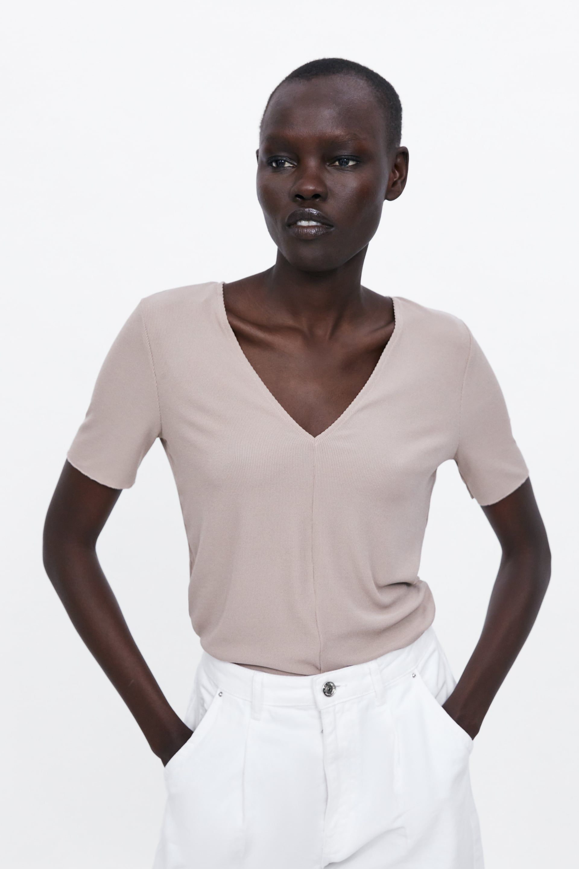 257db324 BASIC T - SHIRT-NEW IN-WOMAN | ZARA Canada | Clothing Wish List in ...