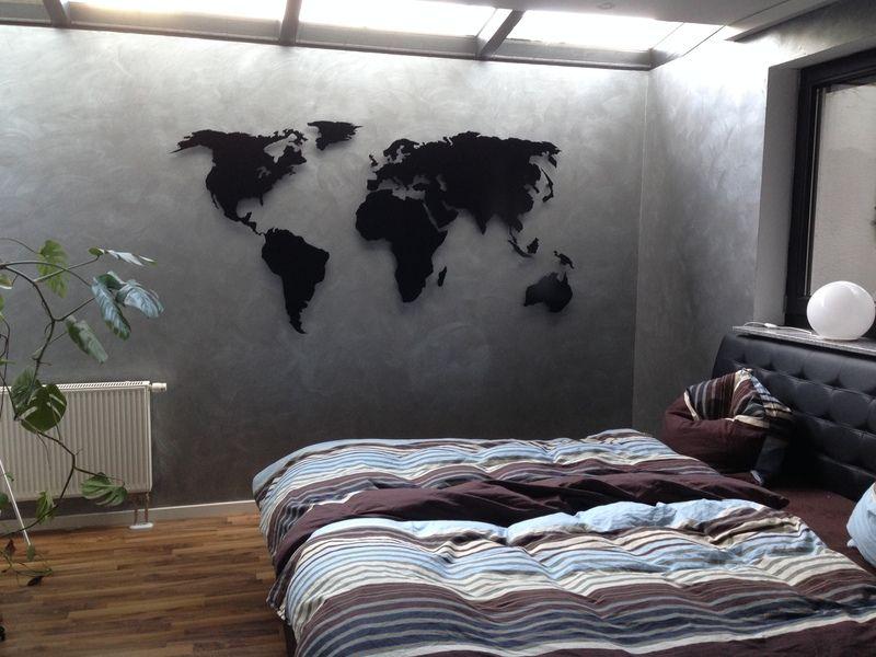 Weltkarte aus Metall Weltkarte, Glück und Metall - wanddeko für schlafzimmer