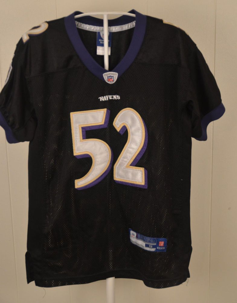 competitive price 4e8df 6a6fc Reebok Baltimore Ravens Jersey #52 Ray Lewis NFL Authentic ...