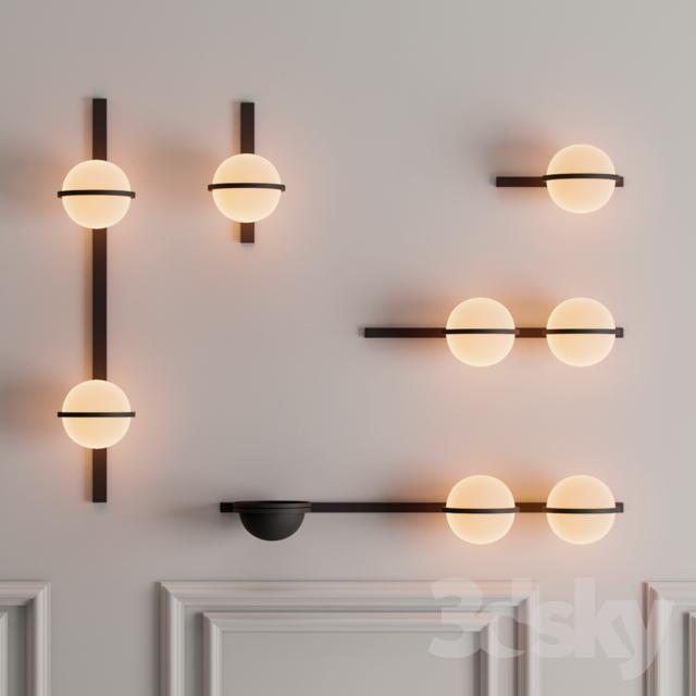 3d Models Wall Light Vibia Palma In 2020 Wall Lights Vibia Lighting Vibia
