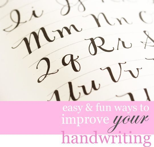 How to improve your handwriting in a few easy steps.  Mine went from bad to wow - so easy to do with a normal marker, pen, or pencil.