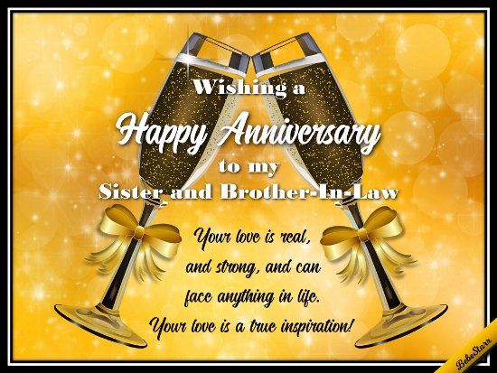 Send wishes for a happy anniversary to your sister and