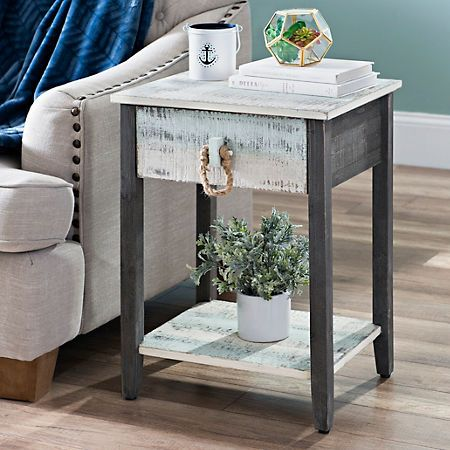 Product Details Distressed Coastal Accent Table For The
