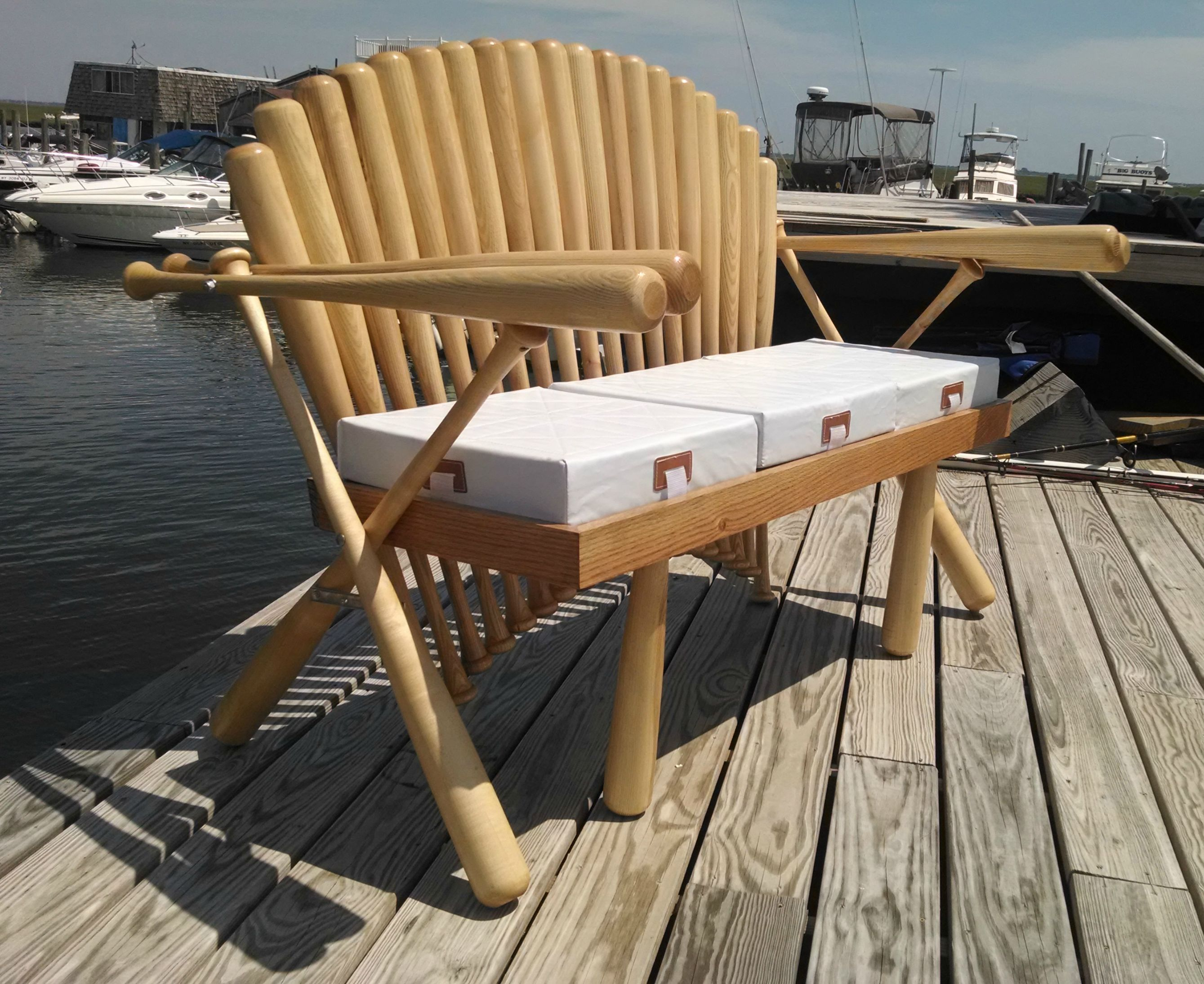 Learn How To Make This Awesome Baseball Bat Bench Play Ball