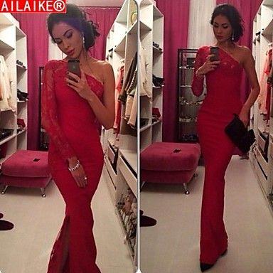 ailaike® χειμώνα BODYCON σέξι δαντέλα φόρεμα κοκτέιλ Maxi κόκκινο φόρεμα  μόδα club μακρά κόμμα φορέματα των γυναικών vestidos γυναικών – EUR € 16.25 d1e3e35a073