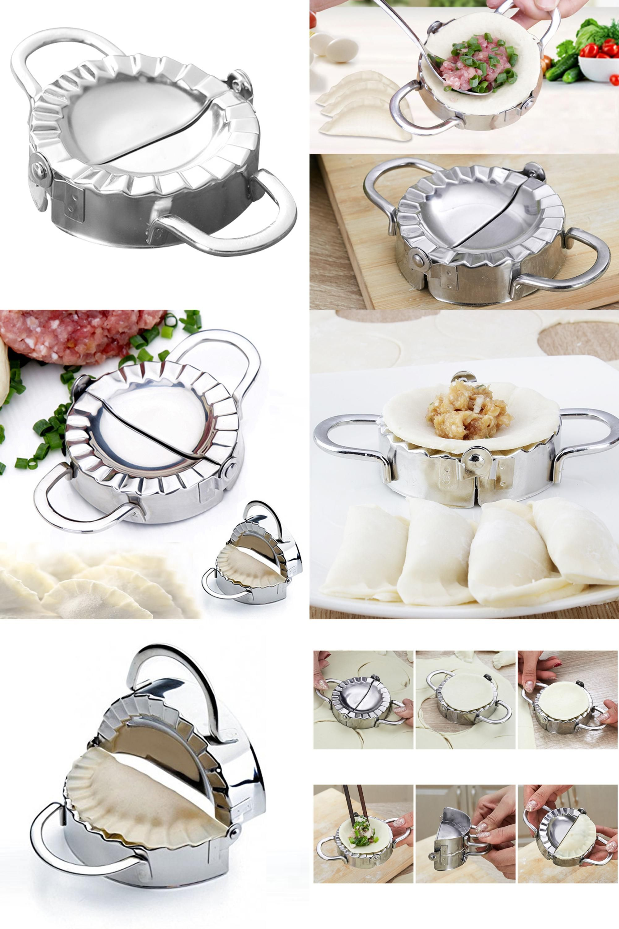 Tools stainless steel wraper dough cutter pie ravioli dumpling mould -  Visit To Buy 2017 1pcs New Pastry Tools Stainless Steel Dumpling Maker Wraper Dough