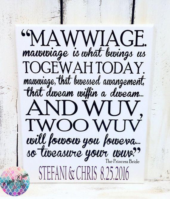 Princess Bride Wedding Quote: PRINCESS BRIDE Valentines Day Gift Movie Quote MAWWIAGE