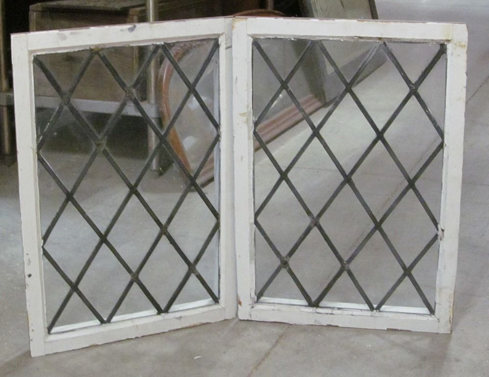 Pair of leaded glass windows... awesome