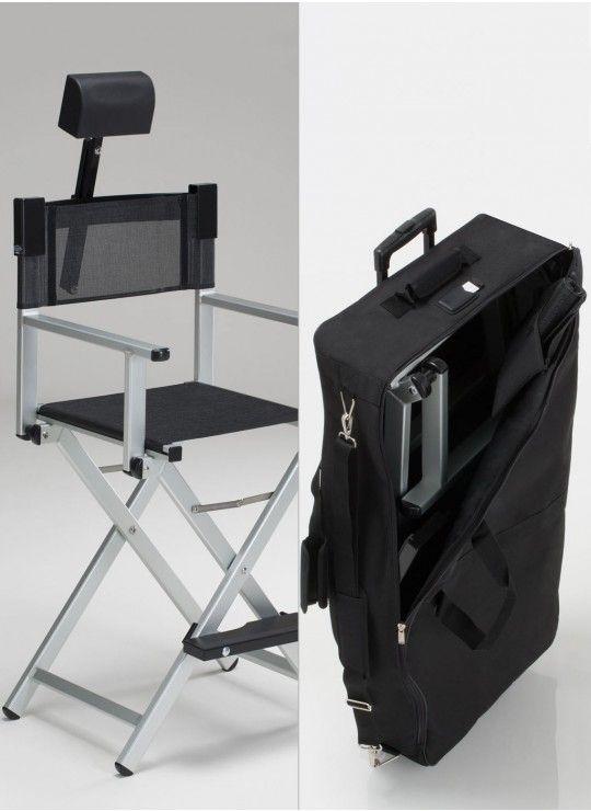 Set Alu Makeup Chair S102a Headrest Trolley Travel Bag Makeup Station Makeup Chair Makeup Artist Bag