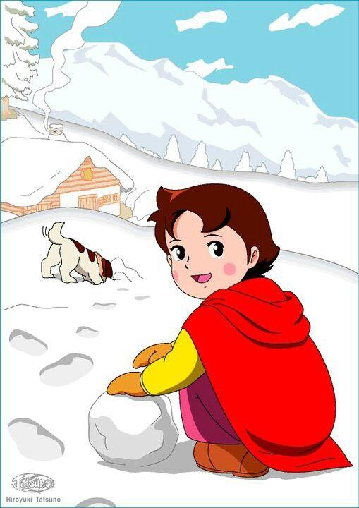 Pin by diandel on heidi of the swiss alps - Haidi dessin anime ...