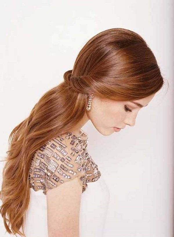 Straight Wedding Hair Inspirations For Your Big Day Wedding Hair Down Wavy Wedding Hair Straight Wedding Hair