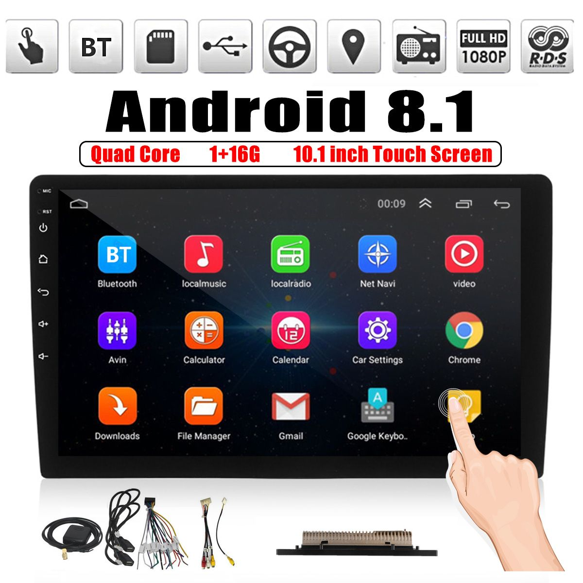 10 1 Inch 2 Din For Android Car Stereo Radio Multimedia Player Quad Core 1 16g Gps Nav Wifi Dab Car Audio Monitor From Automobiles Motorcycles On Banggood Android Car Stereo