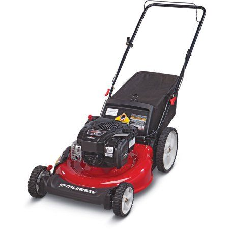 """Murray 21"""" Gas Push Mower with Side Discharge, Mulching, Rear Bag"""