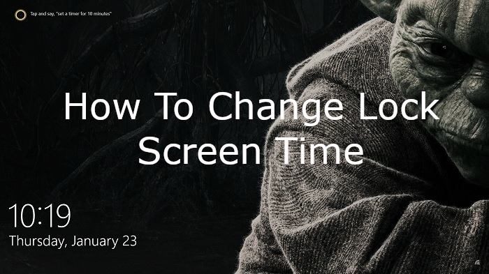 How To Change Clock On Lock Screen Easy Steps Change Clocks Lock Screen Clock Screen Time