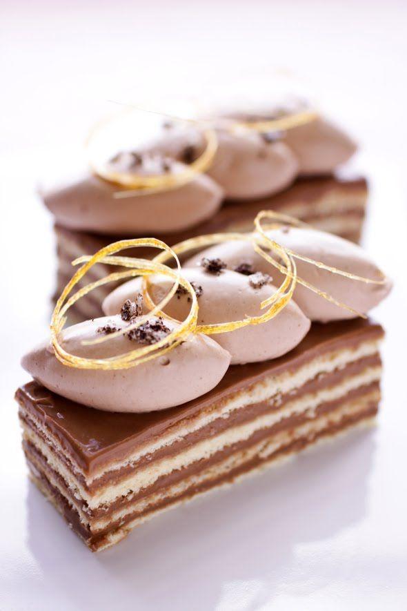 Vanilla Fleur de Sel, caramello e cioccolato Torta Dobos ... indietro con i panettieri Daring :: Cannelle et Vanille