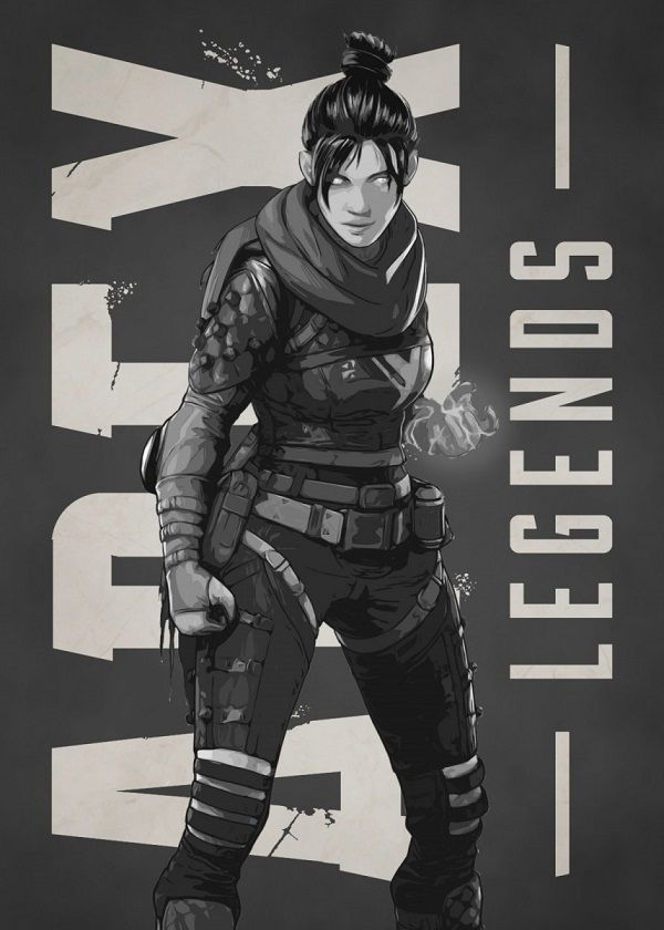 Apex Legends B&W Characters Displate Posters