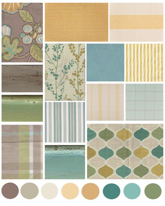 Cottage Style Color Inspiration: Turquoise + Sage + Marigold