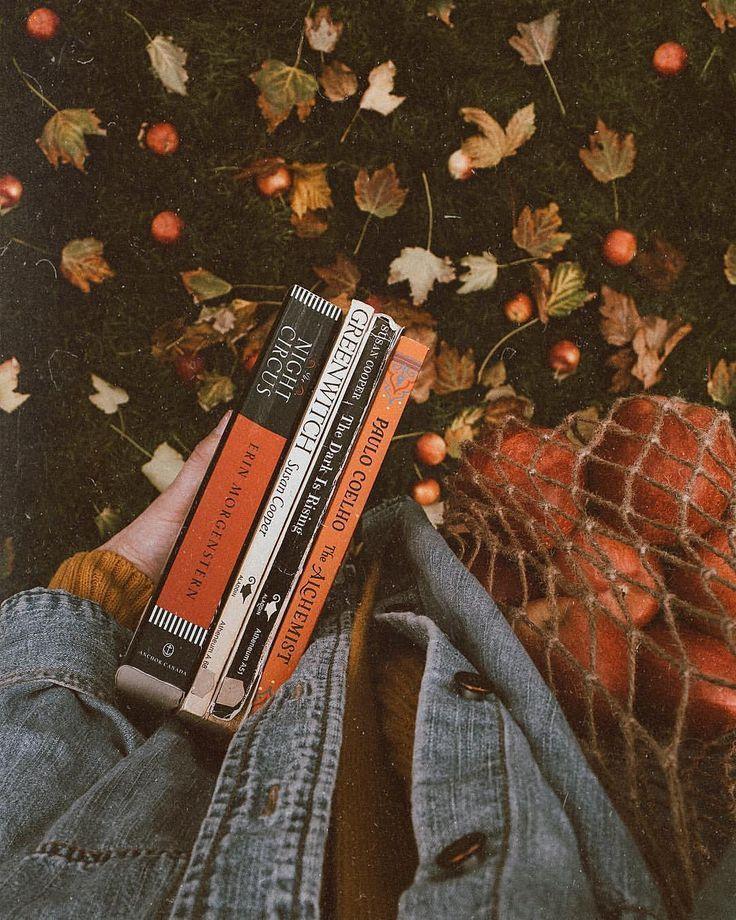 maddy wände autumn fall books reading orange