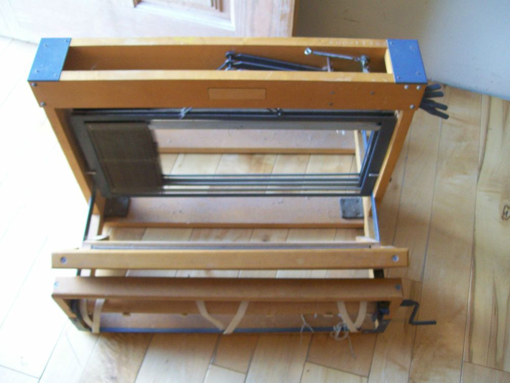 Vtg structo 600 four harness tabletop weaving loom 20