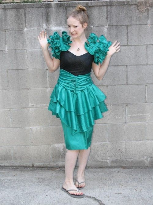 New Dress A Day - DIY - 80s Prom Dress - Upcyclec | Craft ...
